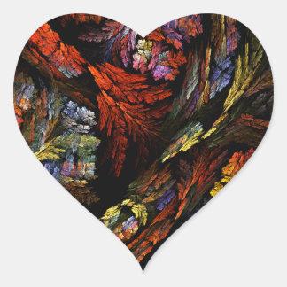 Color Harmony Abstract Art Heart Sticker