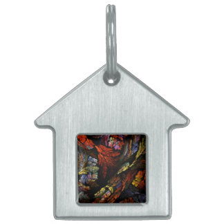 Color Harmony Abstract Art House Pet ID Tag