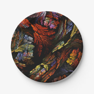 Color Harmony Abstract Art Paper Plate
