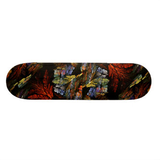 Color Harmony Abstract Art Skateboard