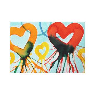 Color Hearts Canvas Print