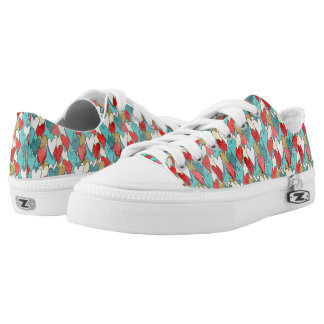 Color hearts low tops