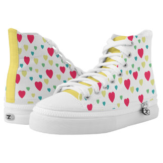 Color Hearts Pattern High Tops