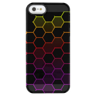 Color Hex on Black Clear iPhone SE/5/5s Case