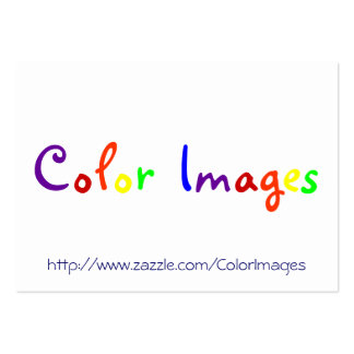 Color Images Business Card Template