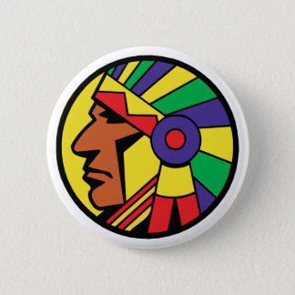 Color Indian Head 6 Cm Round Badge