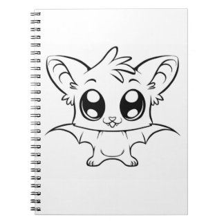 Color It Cute Bat Notebook