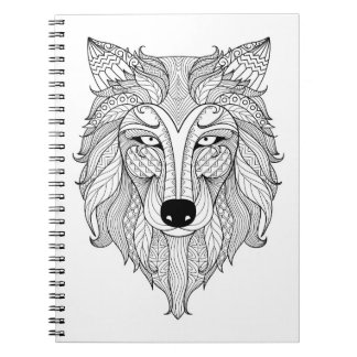 Color It! Majestic Wolf Spiral Note Book