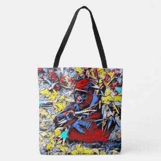 Color Kick - Gorilla Baby Tote Bag