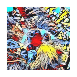 Color Kick - Sloth II Canvas Print
