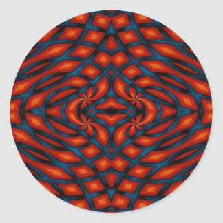 Color Knots - Bold Abstract Pattern Round Sticker