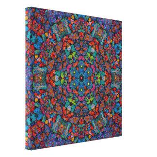 Color Lava Rocks Canvas Print