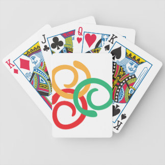 Color logo bicycle playing cards