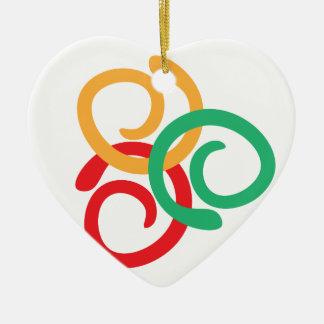 Color logo ceramic heart decoration