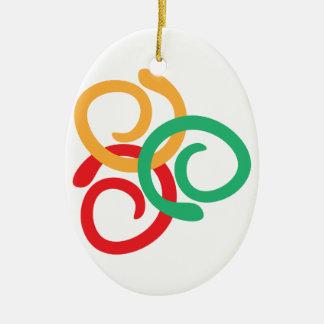 Color logo ceramic oval decoration