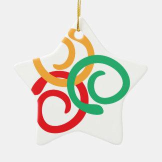 Color logo ceramic star decoration