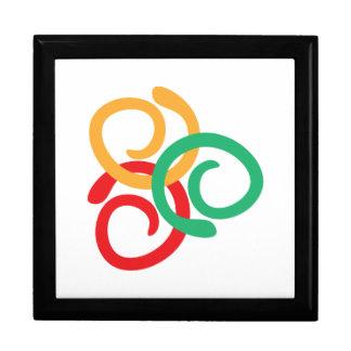 Color logo large square gift box