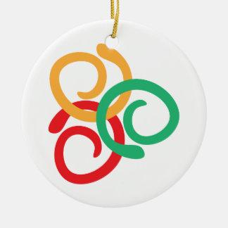Color logo round ceramic decoration
