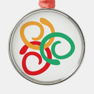 Color logo Silver-Colored round decoration