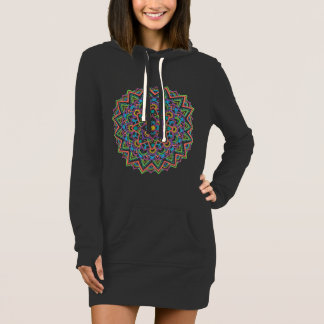 Color Mandala Hoodie Dress