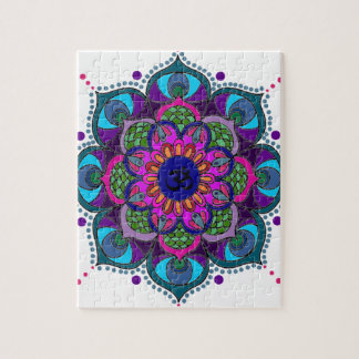 Color Mandala Large Print transp Jigsaw Puzzle