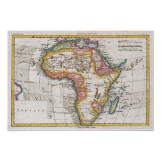 Color Map of Africa Poster