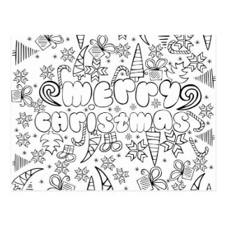 """Color me"" anti stress ""Merry Christmas"" card"