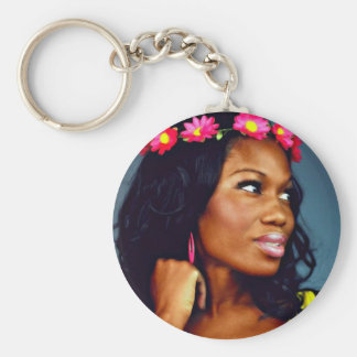 Color Me Beautiful Basic Round Button Key Ring