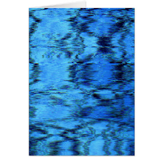 COLOR ME BLUE (an abstract art design) ~ Greeting Card