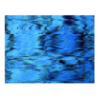 COLOR ME BLUE (an abstract art design) ~ Postcard