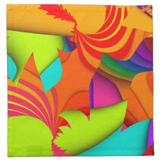 Color Me Bright #1 Fractal Napkins
