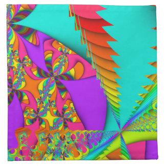 Color Me Bright #2 Fractal Napkins