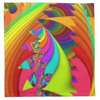Color Me Bright #3 Fractal Napkins