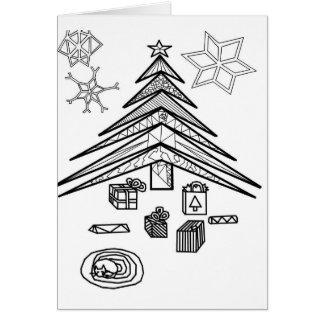 Color Me Card: Christmas Greeting Card