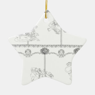 Color Me Carousel Ceramic Ornament