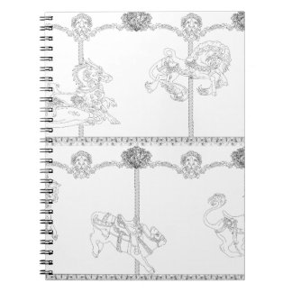 Color Me Carousel Notebooks