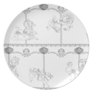 Color Me Carousel Plate