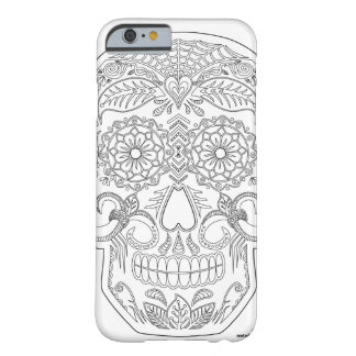 Color Me Day of the Dead Sugar Skull Zen Art Barely There iPhone 6 Case