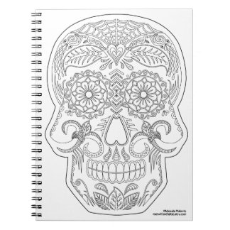 Color Me Day of the Dead Sugar Skull Zen Art Note Books