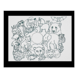 Color Me Designs by Feralartist-Endangered Animals Poster