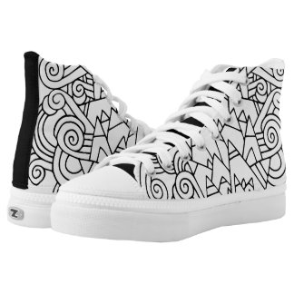Color Me DIY  Abstract Doodle Printed Shoes