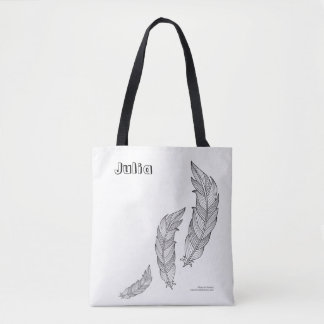 Color Me Feathers Fall Autumn Art Illustration Tote Bag
