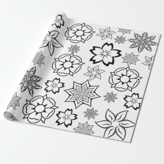 """""""Color Me"""" Flowers Wrapping Paper"""