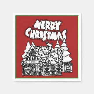 Color Me Gingerbread House Christmas Napkins Disposable Napkin