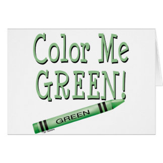Color me green card