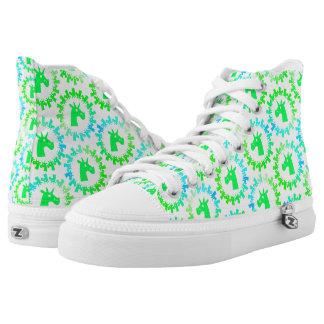 Color Me Green Unicorn shoe Printed Shoes