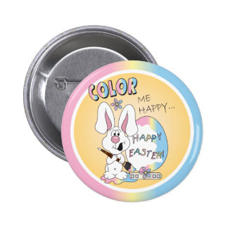 Color Me Happy Easter Bunny 6 Cm Round Badge
