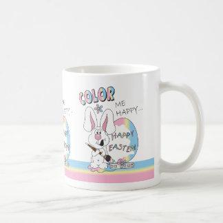 Color Me Happy Easter Bunny Basic White Mug