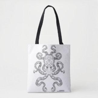 Color Me Octopus Nautical Zen Doodle Illustration Tote Bag