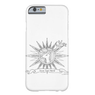 Color Me Reindeer Holiday Zen Doodle Illustration Barely There iPhone 6 Case